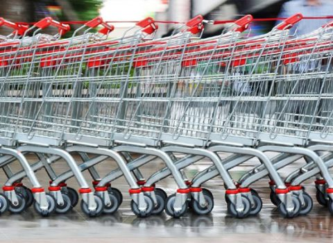 dezinfekce nákupních košíků